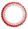distressed textured rosette circular star frame vector image vector image