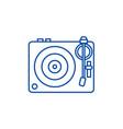 dj vinylturntable line icon concept dj vinyl vector image