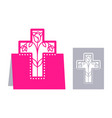 easter laser cutting vector image vector image
