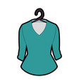 elegant blouse for women in clothespin vector image vector image