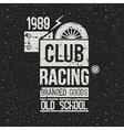 Emblem racing club vector image vector image