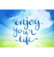 enjoy your life hand-drawn lettering vector image vector image