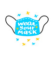 face mask logo icon vector image