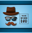fathers day celebration card vector image vector image