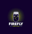 firefly jar logo sign symbol icon vector image
