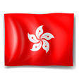 Flag of hongkong vector | Price: 1 Credit (USD $1)