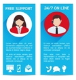 Flat Business Infographic Background vector image vector image