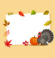 frame with thanks giving day cartoon border vector image
