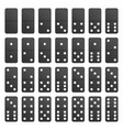 full set black domino pieces vector image