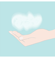 Hand holding cloud vector image vector image