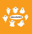 happy halloween ghost scary white ghosts cute vector image