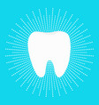 healthy white tooth icon dash line round circle vector image vector image