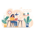 home schooling concept flat style design vector image