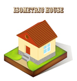 house with a window in perspective vector image vector image
