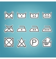 Instruction laundry Dry cleaning and care Flat vector image
