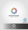 intertwine - infinity connection logo vector image