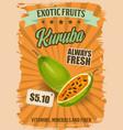Kuruba or curuba exotic fruit banana passionfruit