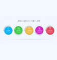 modern infographic template 5 opotions or steps vector image vector image