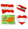 national colours of Austria vector image