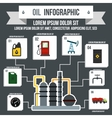 Oil Industry Infographic flat style
