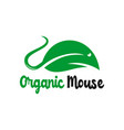 organic and natural mouse logo vector image vector image