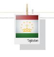 photo of tajikistan flag vector image