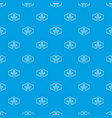 pizza tasty pattern seamless blue vector image vector image