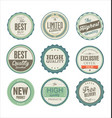 premium quality retro badges collection 2 vector image vector image