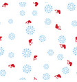 red christmas boot and snowflake seamless pattern vector image vector image