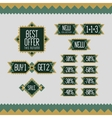 Sale and discount set of vintage labels vector image vector image