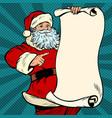 santa claus character christmas and new year vector image