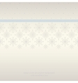 Seamless snowflakes lace background vector image