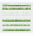 set elements green grass with plants isolated vector image vector image