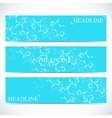 Set of polygonal backgrounds Low poly molecule vector image
