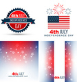Simple set of american independence day background