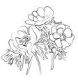 sketch of a flower anemones vector image vector image