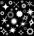 sparkles white symbols vector image vector image