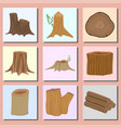 stacked wood pine timber banner for construction vector image vector image