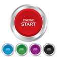 Start engine sign icon Power button vector image vector image
