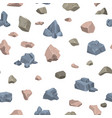 stone rock rockstone of rocky mountain in vector image