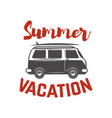 surf trip concept summer surfing retro badge vector image