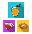 vegetarian dish flat icons in set collection for vector image vector image