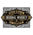 vintage whiskey label vector image vector image