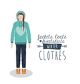 winter clothing design vector image vector image