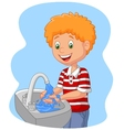 young boy washing her hands vector image vector image