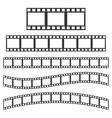 black film frame vector image