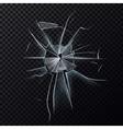 Broken glassware window or damaged screen vector image