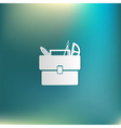 School briefcase bag with stationery Symbol office vector image