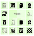 14 washer icons vector image vector image