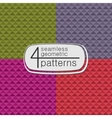 4 geometric seamless patterns vector image vector image